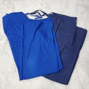 Blue Scrub Pants Bundle, Medium